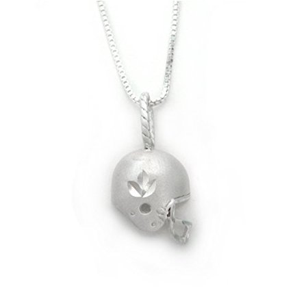 Sterling Silver Football Helmet Charm Necklace](Football Necklaces)