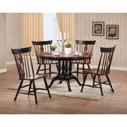 Sunset Trading Fiddleback 48 in. Round Dining Table - Black & Chestnut