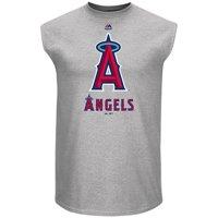 Los Angeles Angels Majestic Game Fundamentals Muscle Tank Top - Heathered Steel
