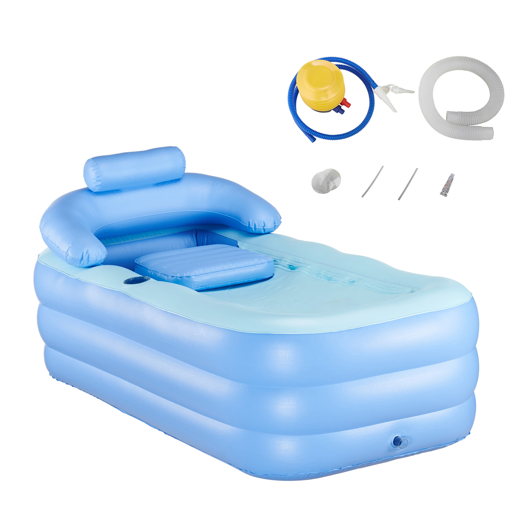 PVC Portable Spa Warm Bathtub Blow Up Adult Inflatable Bath Tub Air Pump Kit