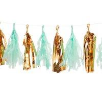 Product Image Darice Gold Mint Mylar Tassel Garland 12 Tassels