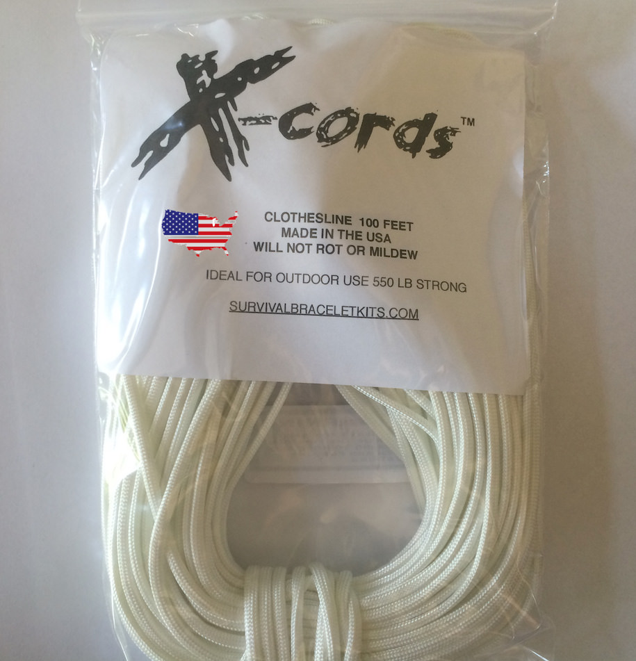 Clothesline High Strength - Outdoor Rated To Last For Years!  X-Cords