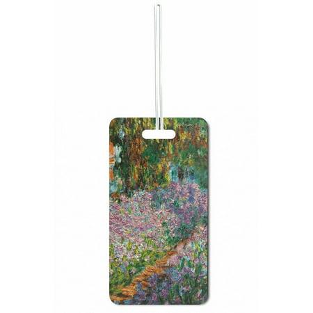 - Accessory Avenue Monet Irises In Monets Garden Standard Sized Hard Plastic Double Sided Luggage Identifier Tag