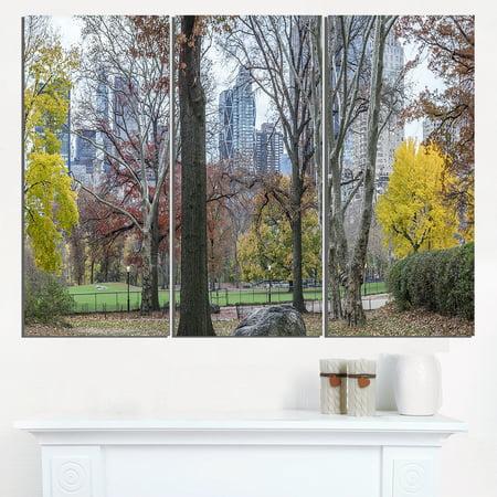 Central Park New York City in Autumn - Landscape Canvas Art Print - image 1 of 1