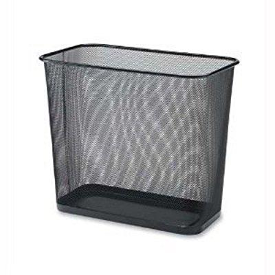 ybmhome 1103 steel rectangular mesh trash can, black