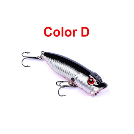 10PCS Topwater Popper Fishing Baits And Lures Freshwater Bass Bait Minnow Crankbaits With Hooks Tackle 7.3cm 12g 1PCS-D thumbnail