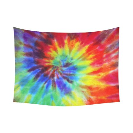 GCKG Fabric Swirl Psychedelic Tie Dye Tapestry Wall Hanging Abstract Paisley Wall Decor Art for Living Room Bedroom Dorm Cotton Linen Decoration 80 x 60 Inches](Tie Dye Room)
