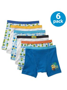 Dispicable Me, Boys Underwear, 5+1 Bonus Pack Boxer Briefs (Little Boys & Big Boys)