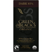 Green & Black's Organic Dark 85% Chocolate Bar, 3.5 oz