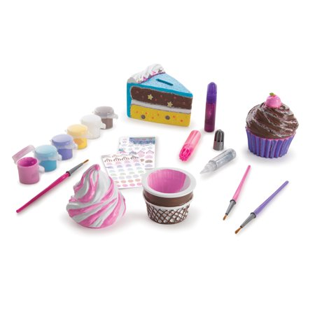 Melissa & Doug Sweet Keepsakes Craft Kit: 2 Decorate-Your-Own Treasure Boxes and a Cake Bank