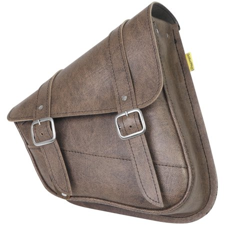 (Willie & Max 59779-00 Revolution Universal Swingarm Saddlebag - Vintage Brown)