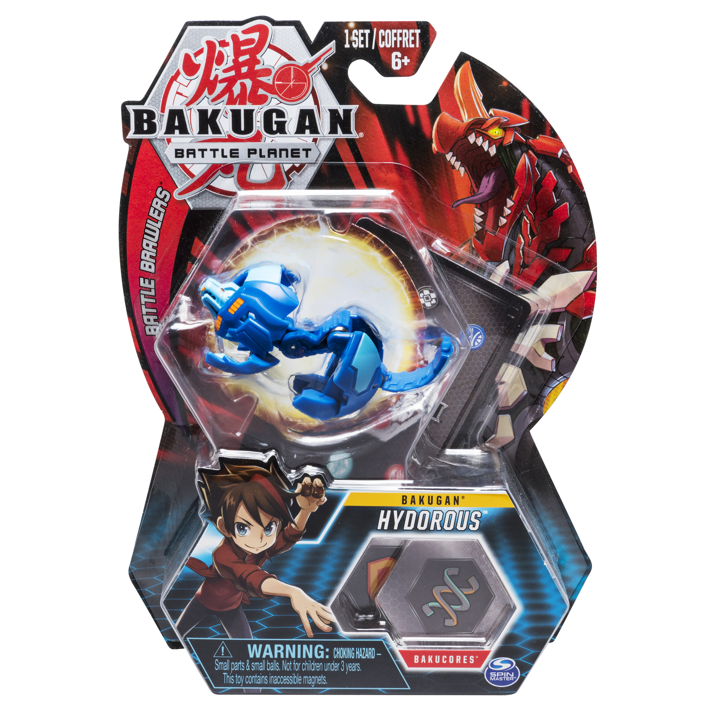 Bakugan, Hydorous, 2-inch Tall Collectible Transforming Creature, for Ages 6 and Up