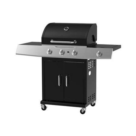 Image of Chant Kitchen Equipment BG2723B 3-Burner LP Gas Grill, 36,000-BTUs + Side Burner