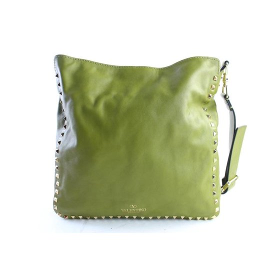 962f87060d Valentino - Rockstud Utilitarian Hobo Messenger 10mr0625 Green Leather  Cross Body Bag - Walmart.com