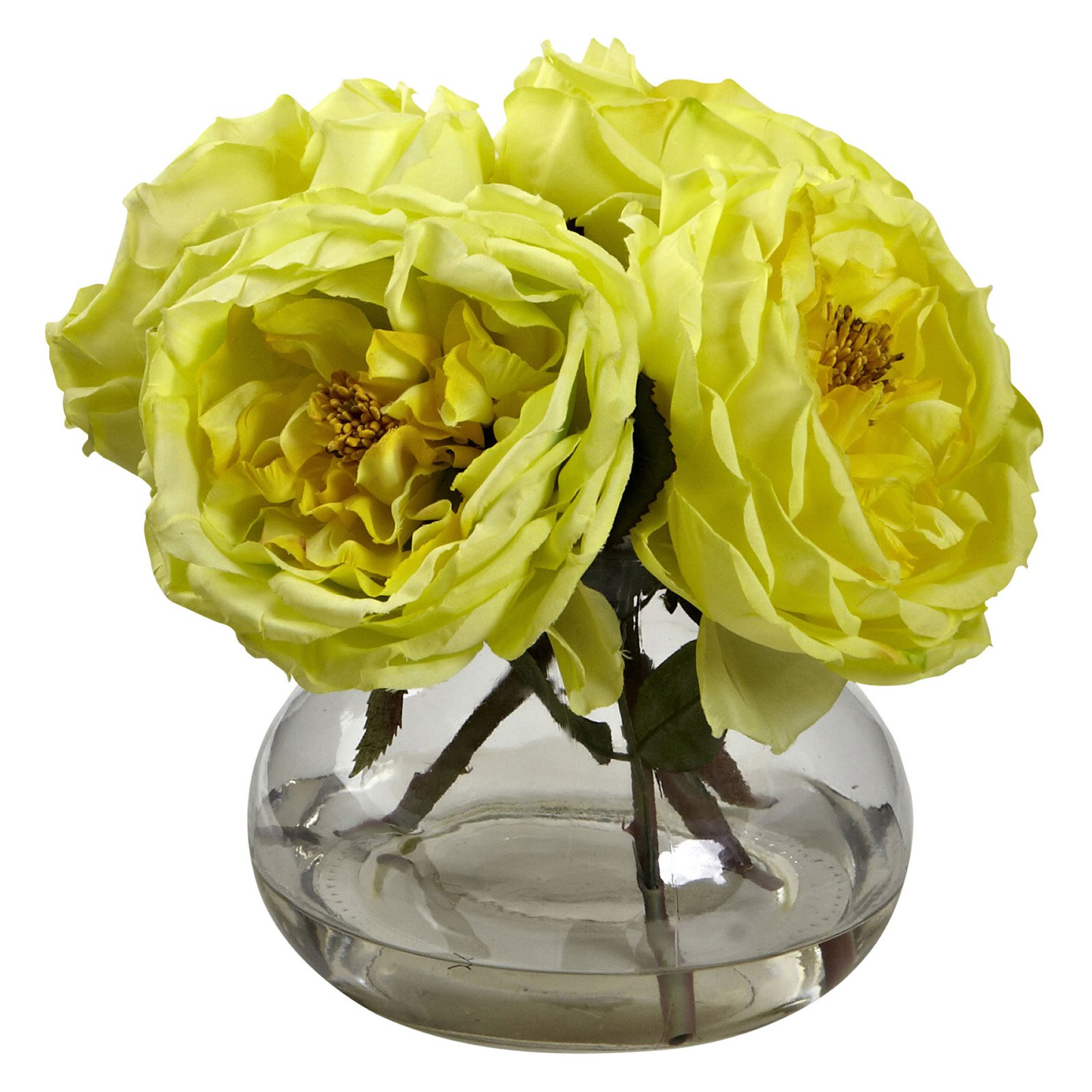 Nearly Natural Fancy Roses Silk Flower