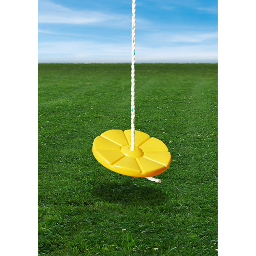 Gorilla Playsets Yellow Disc Swing with Rope