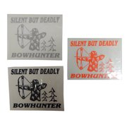 Graphic Designs SILENT BUT DEADLY BOWHUNTER Vinyl Decal Sticker, 179