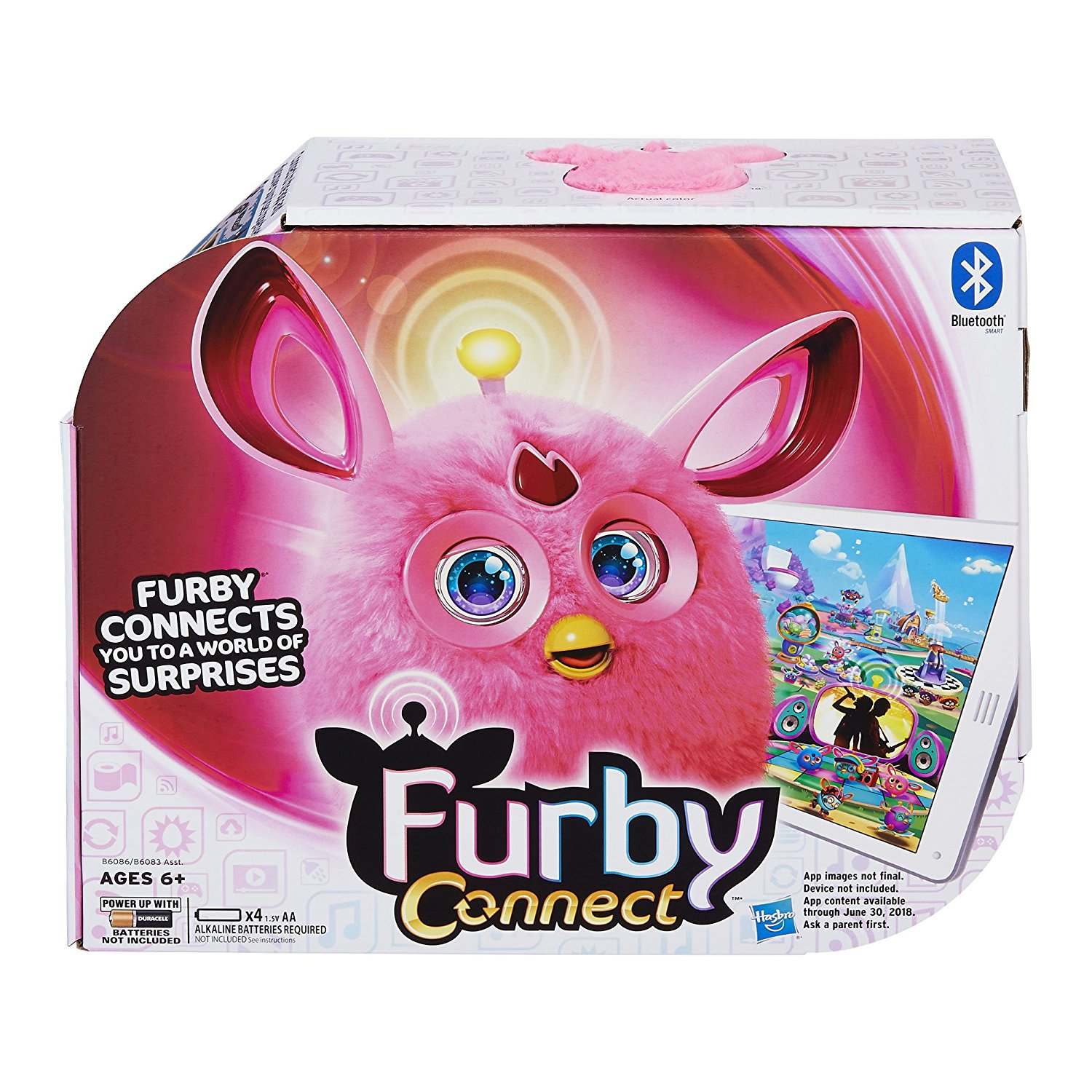 Hasbro Furby Connect Friend, Pink- Interactive Toy by