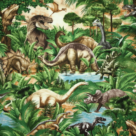 Quilting Treasures Halloween Fabric (Timeless Treasures Dinosaurs Green Quilting Cotton Fabric by the)