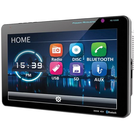 "10.3"" DVD/CD/MP3 Double Din Receiver with Bluetooth & Detachable Faceplate"