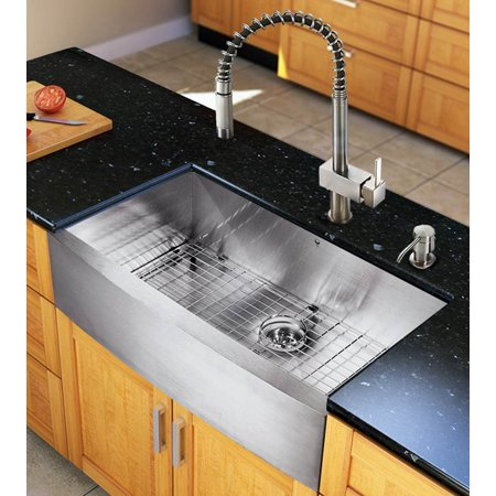 36 Inch Farmhouse Kitchen Sink And Faucet Set