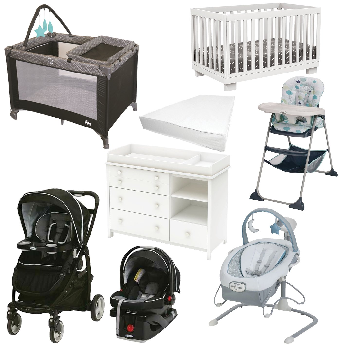 Nursery Baby Bundles 8pcs Graco Modes