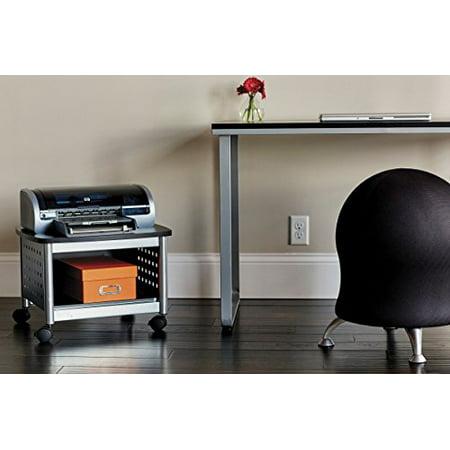 Safco Products 1855BL Scoot Under Desk Printer Machine Stand, Black/Silver