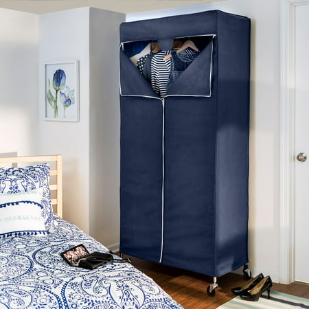 Ultimate Garment (Honey Can Do Garment Rack Cover with Triple Zippered Opening, Blue )