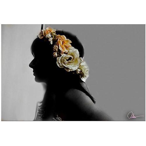 """Trademark Fine Art """"Flora"""" Canvas Art by Martha Guerra"""