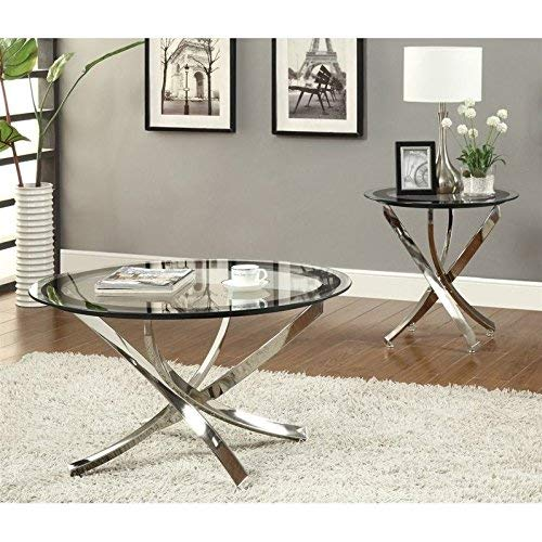 Norwood End Table With Tempered Glass Top Chrome And Clear Walmart Canada