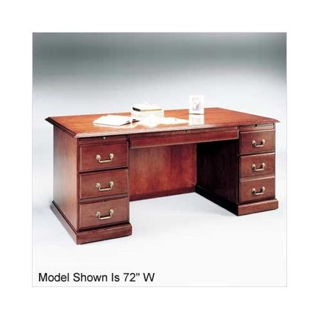 Legacy Double Pedestal Executive Desk Right Left Drawers