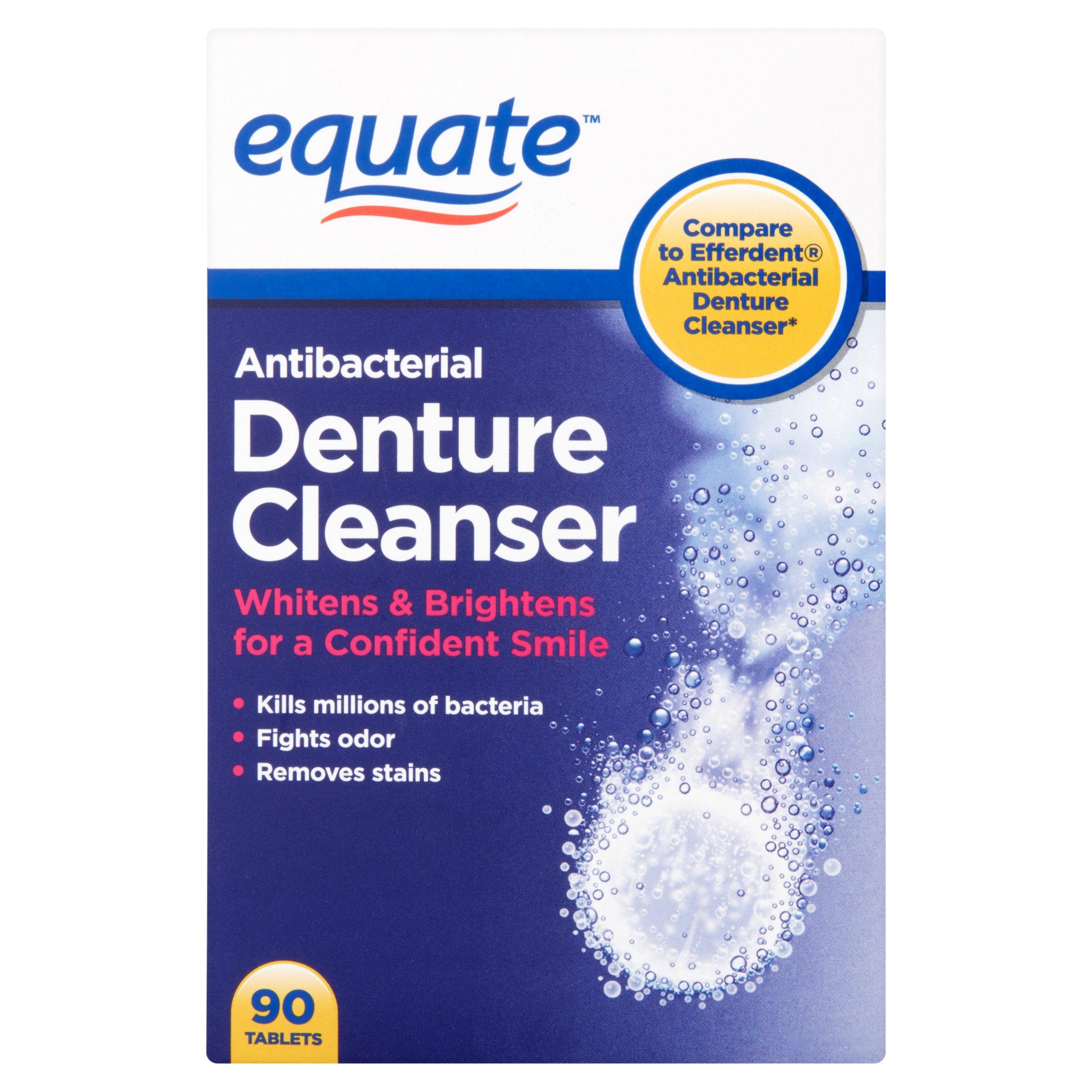 Equate Antibacterial Denture Cleanser Tablets, 90 Ct