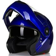 ILM 5 Colors Motorcycle Modular Flip up Dual Visor Helmet DOT Approved