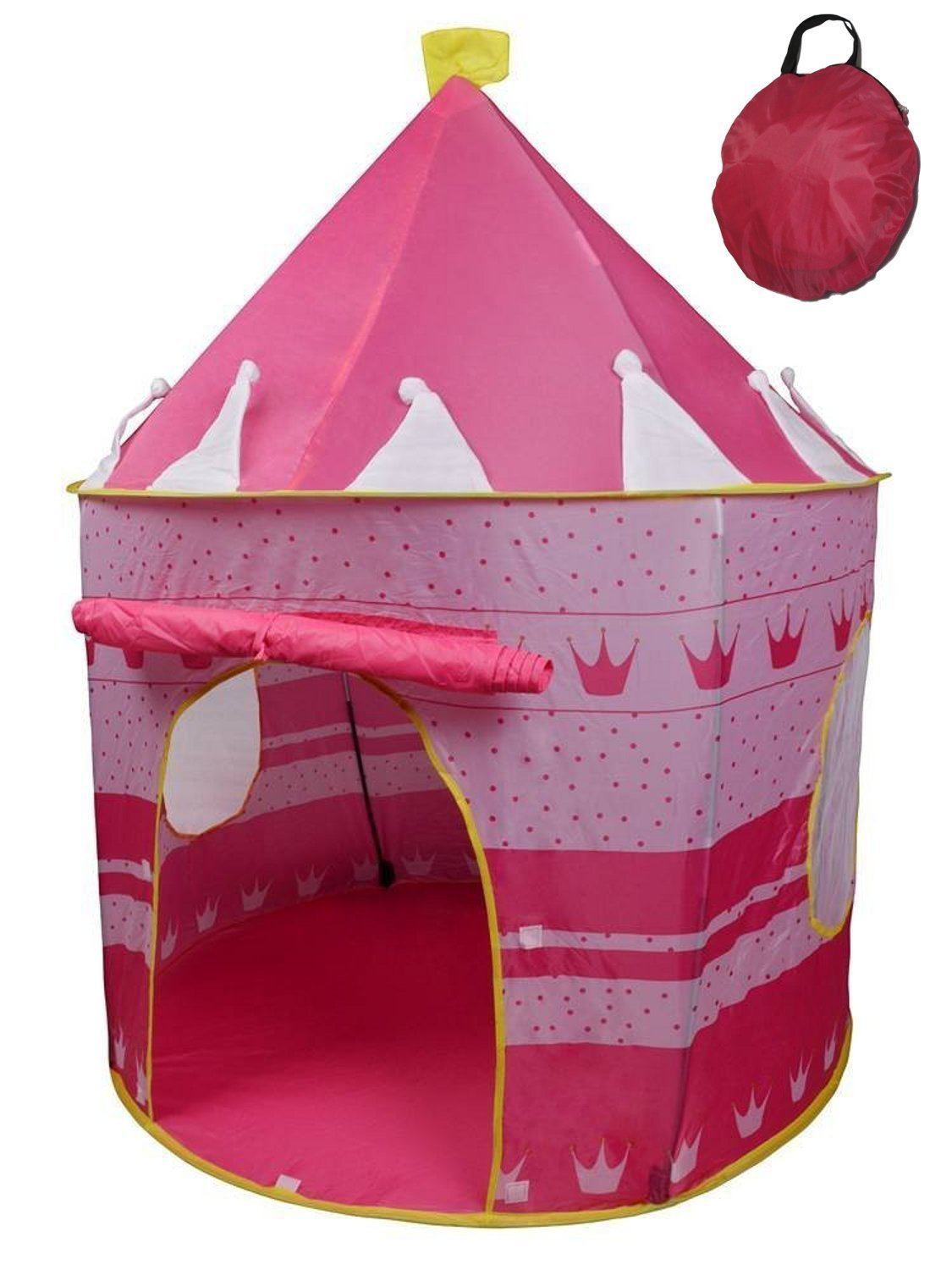 POCO DIVO Crown Princess Castle Girls Outdoor Tent Pink Indoor Play House - Walmart.com  sc 1 st  Walmart : girls tent - memphite.com