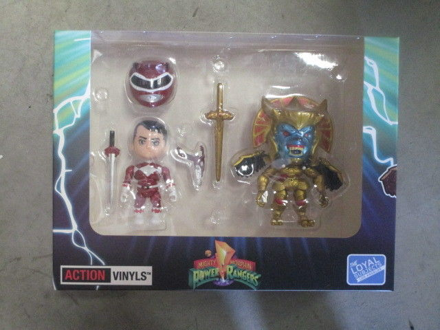 The Loyal Subjects SDCC 2015 Power Rangers Action Vinyl Red Ranger Vs Goldar