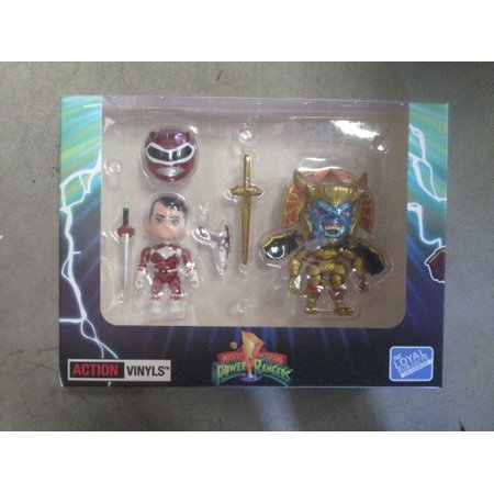 Mighty Morphin Power Rangers   Sdcc 2015 Exclusive Action Vinyl Red Ranger Vs Goldar 2 Pack By The Loyal Subjects