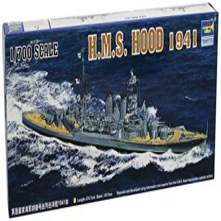 Hms Hood Battleship - Trumpeter 1/700 HMS Hood British Battleship 1941 Model Kit