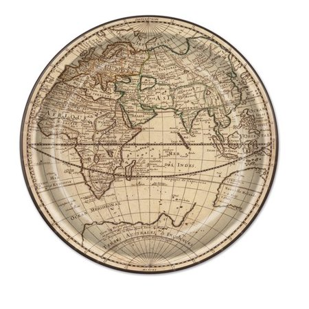 - The Beistle Company Around The World Paper Plate