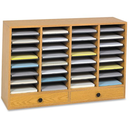 Safco, SAF9494MO, Adjustable Compartment Literature Organizers, 1 Each, Oak