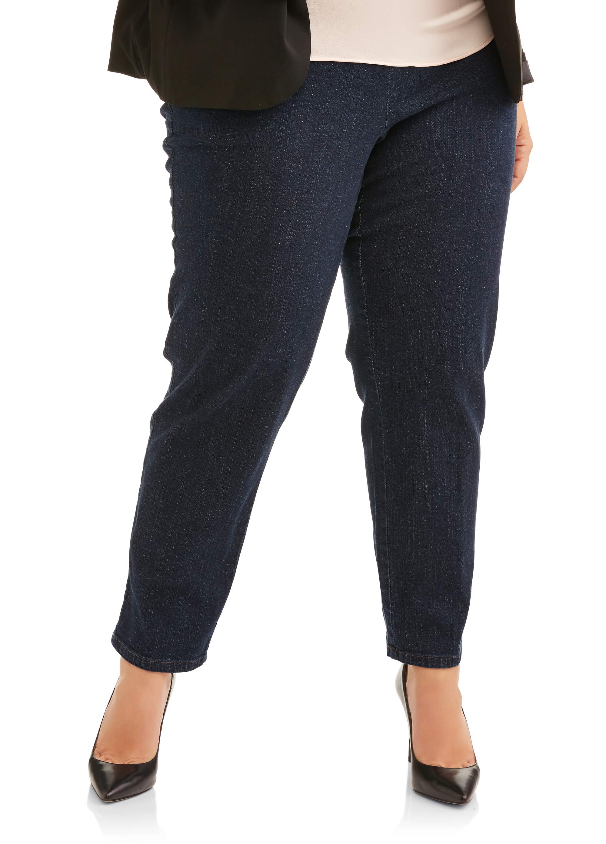 ef99374530745 Just My Size Women's Plus-Size 2-Pocket Stretch Pull-On Pants ...