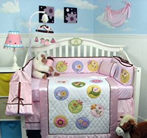 Soho Silky Butterflies and Friends Baby Crib Nursery Bedding Set