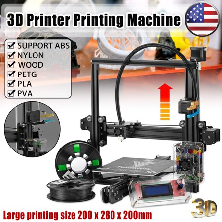 TEVO® Tarantula Prusa I3 DIY 3D Printer Kit With Auto Leveling Sensor 200x280x200mm Large Printing Size 1.75mm 0.4mm Nozzle With 2x 0.25kg