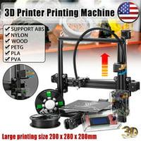 TEVO® Tarantula Prusa I3 DIY 3D Printer Kit With Auto Leveling Sensor 200x280x200mm Large Printing Size 1.75mm 0.4mm Nozzle With 2x 0.25kg Filament