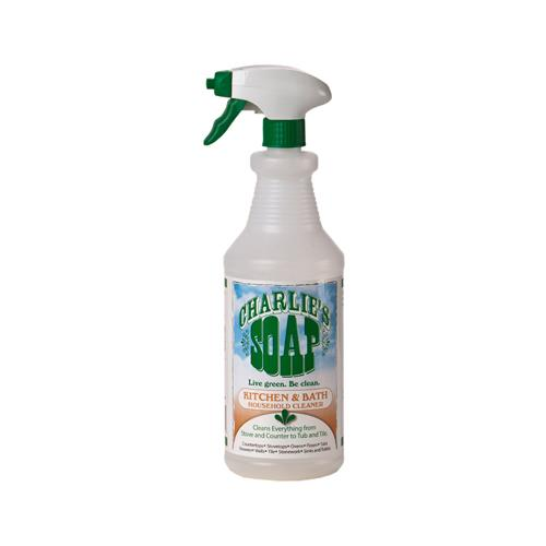 Sutherland Prod Dba Charlies Soap 12301 Kitchen/Bath Eco Friendly Liquid  Cleaner, 32
