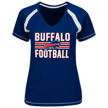 Buffalo Bills Majestic Women's Plus Sizes Game Day V-Neck T-Shirt - Royal