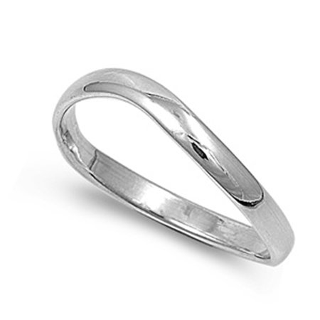 Sterling Silver Women's Men's Thumb Ring Strong Unique 925 Band 3mm Size 5 Silver Thumb Ring