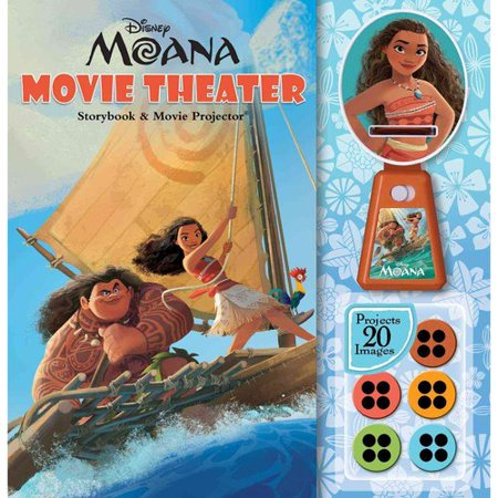 Disney Moana  Movie Theater Storybook   Movie Projector