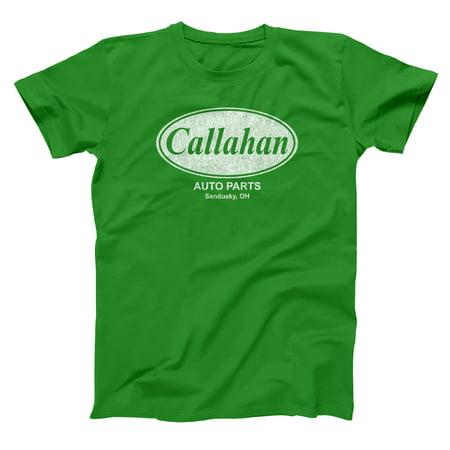 Callahan Auto Parts Small Green Basic Men's T-Shirt