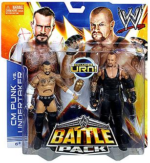 WWE Wrestling Series 25 CM Punk vs. Undertaker Action Figure 2-Pack [Urn] BHM42