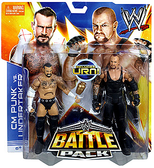 WWE Wrestling Series 25 CM Punk vs. Undertaker Action Figure 2-Pack [Urn]